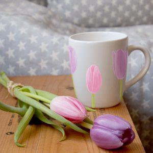 Ilustración sobre cerámica